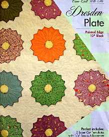 """DRESDEN PLATE 12"""" Pointed Edge Block TEMPLATE SET-0"""
