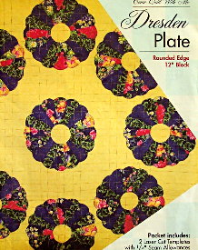 """DRESDEN PLATE 12"""" Rounded Edge Block TEMPLATE SET-0"""