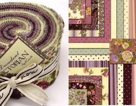 Decadent Victorian Moda Fabric Roll -0
