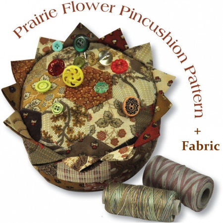 Prairie Flower Pincushion Kit-0