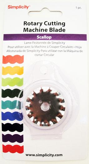 Simplicity Rotary Cutting Machine Blade - Scallop-0