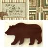 Cozy Cabin Bears Applique Set - One Dozen-0