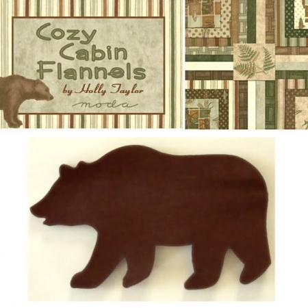 Cozy Cabin Bears Applique Set - One Dozen-0