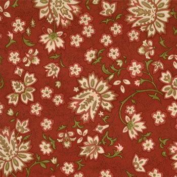 Cotton Blossoms - 55002 21 - Paisley Floral Brick-0