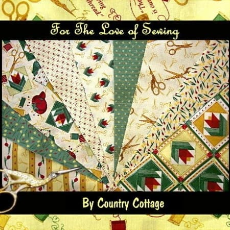 "For the Love of Sewing 5"" Charm Pack - Yellow-0"