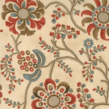 Collections Hope - 46080 10 - Floral Medallions Ivory-0