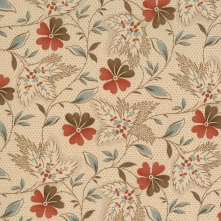 Collections Hope - 46081 10 - Floral Leaves Ivory-0