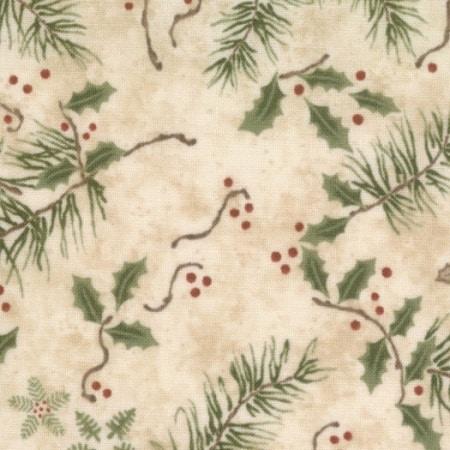 Northwoods Botanical Flannel - 6376 11B - Natural-0