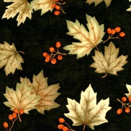 A Simpler Time - 6392 16 - Leaves Black-0
