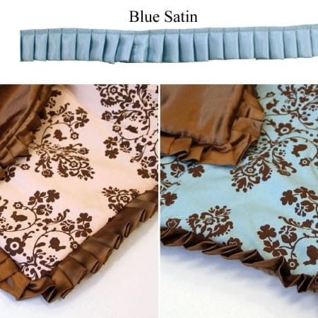 "Lily & Will Satin Trim - 1.25"" Blue-0"
