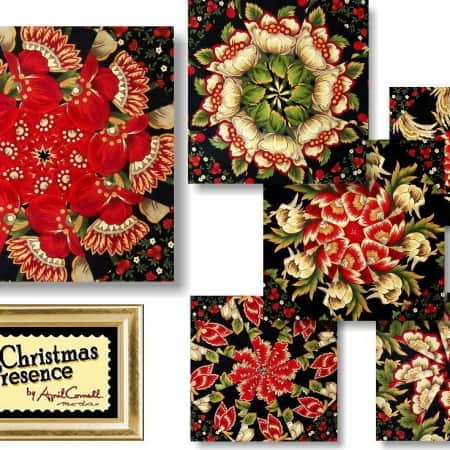 April Cornell's Christmas Presence Kaleidoscope Quilt Kit-0