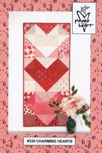 Charming Hearts Table Runner / Wall Quilt Kit-0