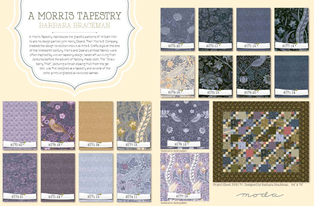 A MORRIS TAPESTRY MODA 8177-14 100/% cotton