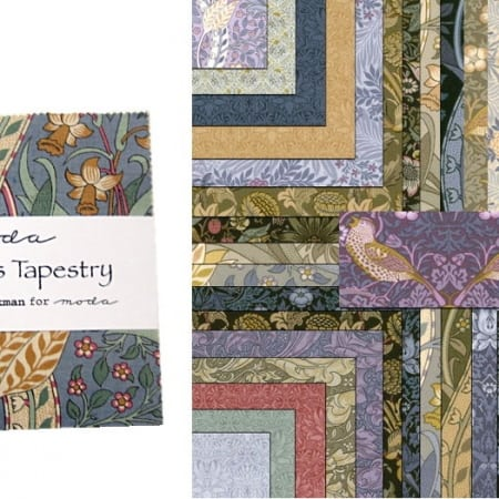 "A Morris Tapestry 5"" Charm Pack + FREE PATTERN-0"
