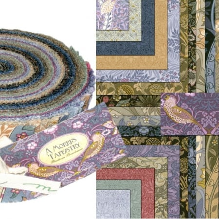 A Morris Tapestry Moda Jelly Roll-0