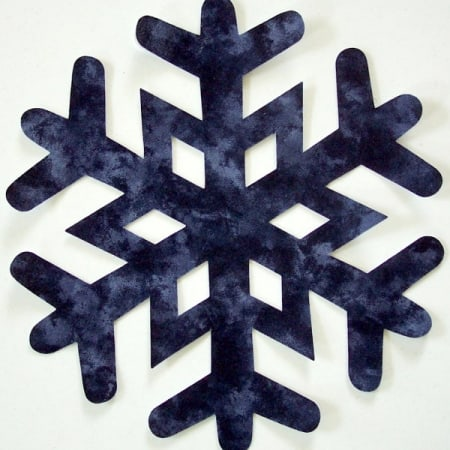 "Large 8"" Iron On SNOWFLAKE Applique-0"