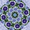 Wildflowers with Snow Blossoms Kaleidoscope Quilt Kit -6550