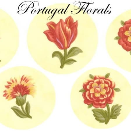 Portugal Florals Applique Set -0