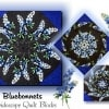 Midnight Bluebonnets Kaleidoscope Quilt Kit -0