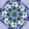 Wildflowers with Snow Blossoms Kaleidoscope Quilt Kit -6549