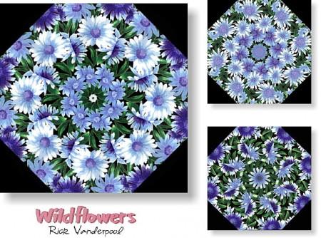 Wildflowers Kaleidoscope Quilt Kit -0