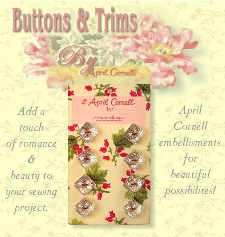 April Cornell Buttons - Crystal Square-0