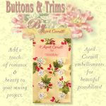 April Cornell Buttons - Crystal Flower-0