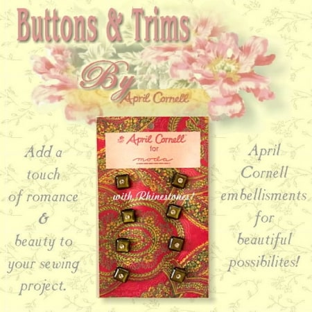 April Cornell Buttons - Olive Square-0