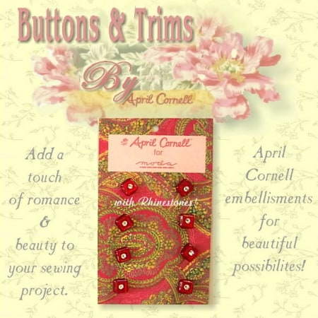 April Cornell Buttons - Red Square-0