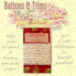 Lace Crocheted Trim w/ Satin - Cream-0