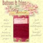 Lace Crocheted Trim with Satin - Red-0