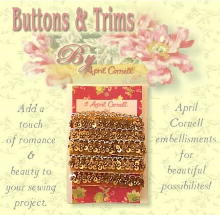 Sequins & Beads Trim - Gold-0