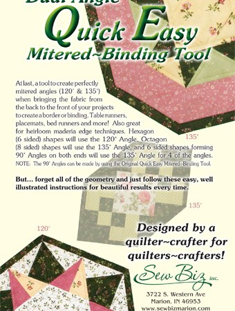 Quick Easy MITRED BINDING TOOL - Dual Angle-0