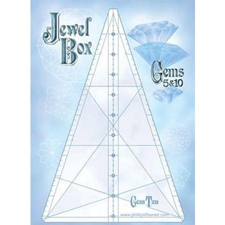 Jewel Box 10/5 Gem Triangle Ruler Set-0