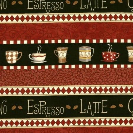 Bistro - 19241 12 - Border Stripe Red-0