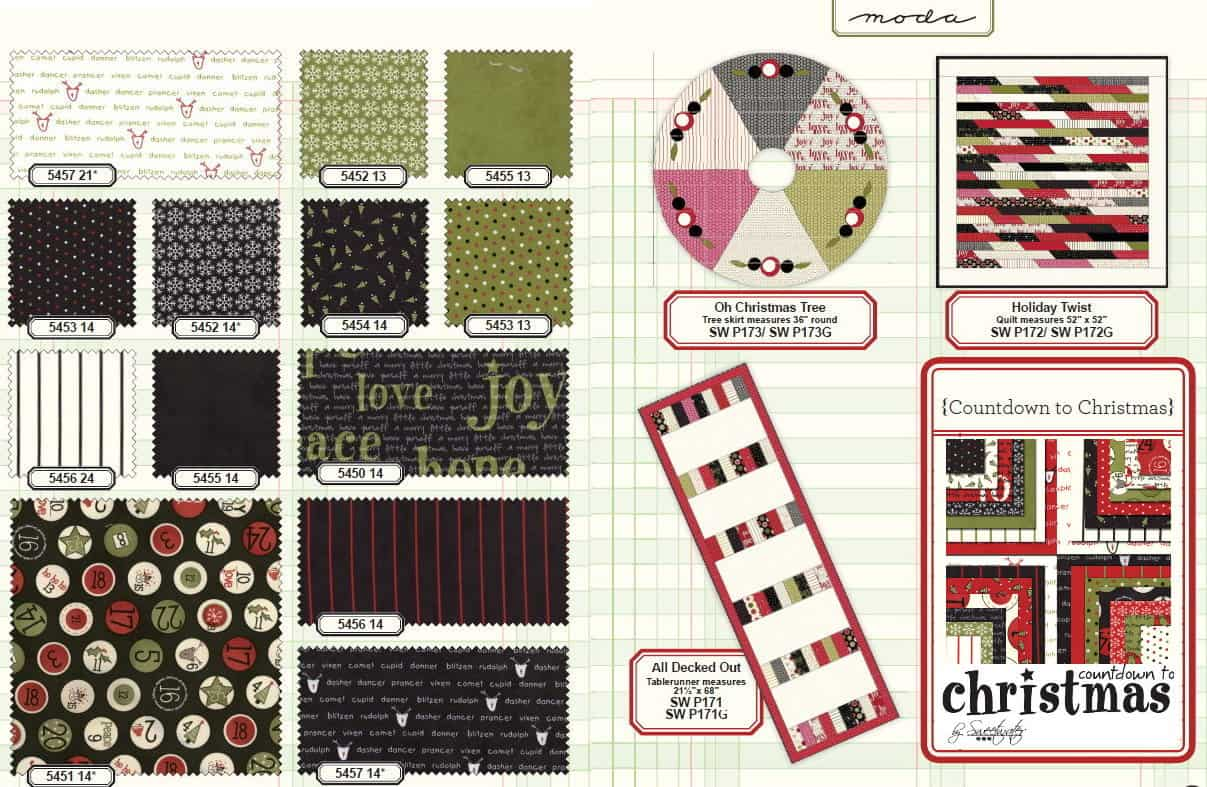 Countdown To Christmas Moda Jelly Roll