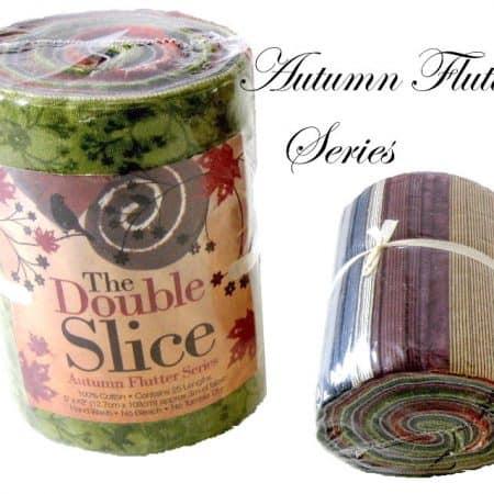 Double Slice Fabric Roll - Autumn Flutter Blenders G/B-0