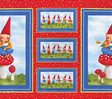 Wee Folks Fabric Panel - Red-0