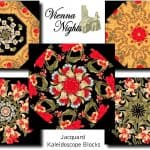 VIENNA NIGHTS Kaleidoscope Quilt Blocks Kit-0