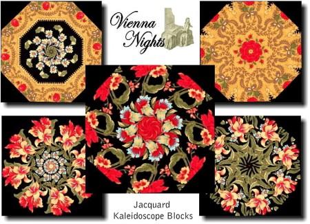VIENNA NIGHTS Kaleidoscope Quilt Blocks Kit-0