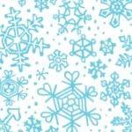 Penguin Pals - 11221 16 - Snowflakes White Aqua-0