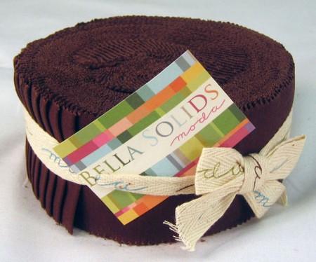 Bella Solids - Brown Moda Jelly Roll-0