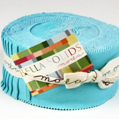Bella Solids - Egg Blue Moda Jelly Roll-0