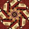 Lotta Latte Kaleidoscope Quilt Kit-8409