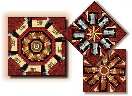 Lotta Latte Kaleidoscope Quilt Kit-0