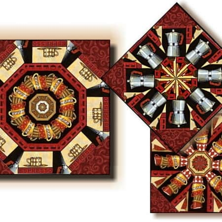 Lotta Latte Kaleidoscope Quilt Kit-0