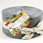 Bella Solids - Silver Moda Jelly Roll-0