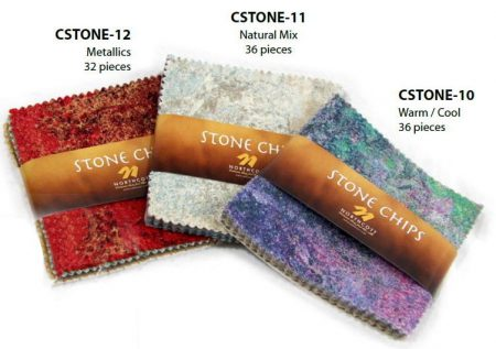 "Stonehenge Stone Chips - 5"" Charm Pack WARM / COOL-0"