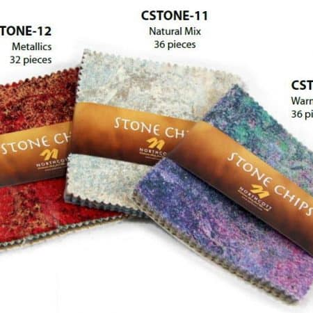 "Stonehenge Stone Chips - 5"" Charm Pack WARM / COOL-0"