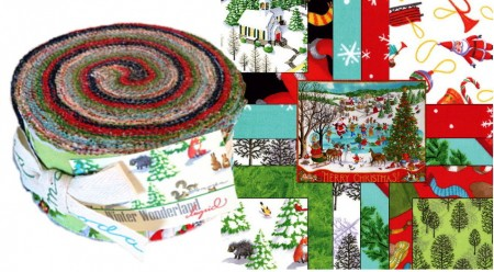 Winter Wonderland Moda Jelly Roll - Ingrid-0